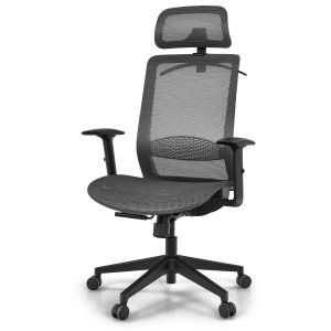 Ergonomic Mesh Rolling Chair with Adjustable Lumbar Support