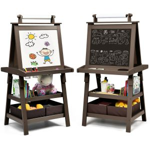 Children's Double-Sided Art Easel with Paper Roll