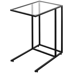C-Shaped Industrial Sofa Side End Table