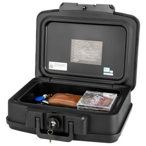 Fire & Water Resistant Portable Lockable Safe Chest