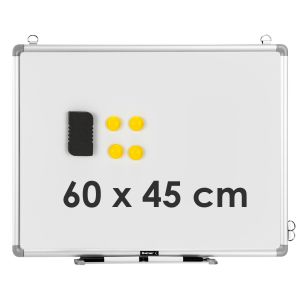 Double Sided Magnetic Wall-Mounted 60 x 45CM Whiteboard