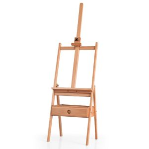 Wooden Artist Easel Beech Stand with Adjustable Holder and Drawer