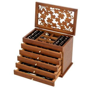 Vintage Styled Wooden Jewellery Box