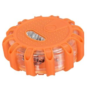 6 LED Road Safety Warning Lights with Magnetic Bases