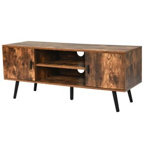 Industrial TV Stand Media Console Table Cabinet