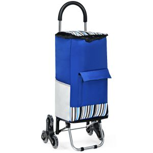 Foldable Stair Climber Shopping Trolley / Sack Barrow with Strap and Hooks