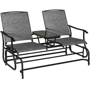 2 Seater Garden Rocking Lounge with Centre Table