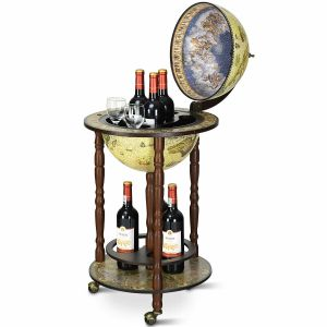 Wooden Globe Drink Cabinet with Italian Styling