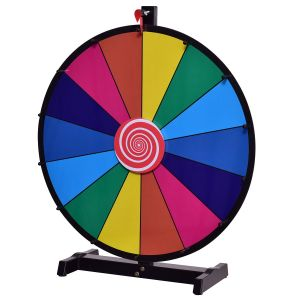 """24"""" Colour Spinning Tabletop Prize Wheel"""