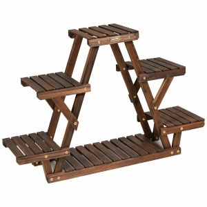 4 Tier Wooden Plant Stand / Flower Display Stand