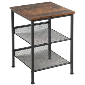 3 Tier Industrial Styled Side, Table Bedside Table