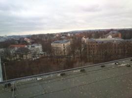 Blick vom Rosenhof-Hochhaus.