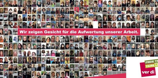 400 Kolleg*innen haben Gesicht gezeigt für faire Löhne