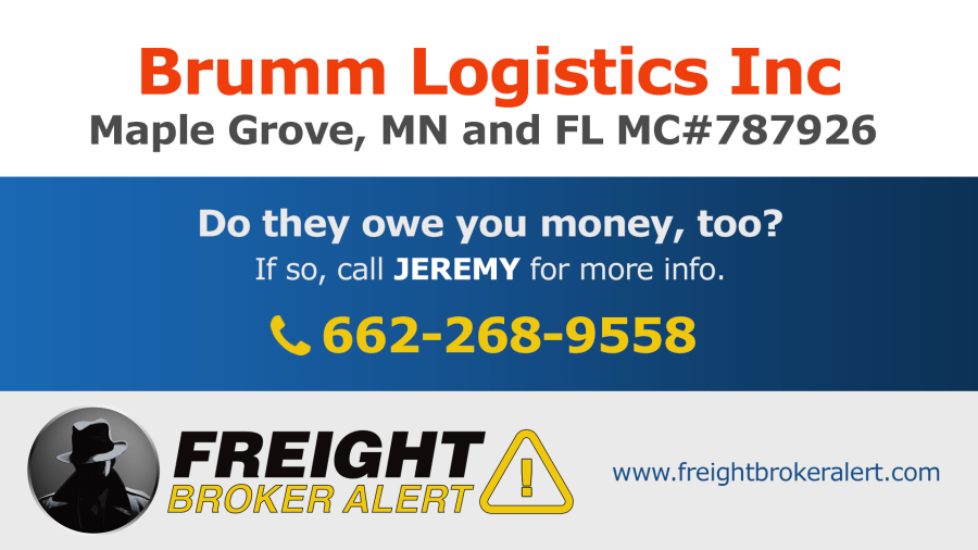 Brumm Logistics Minnesota Florida