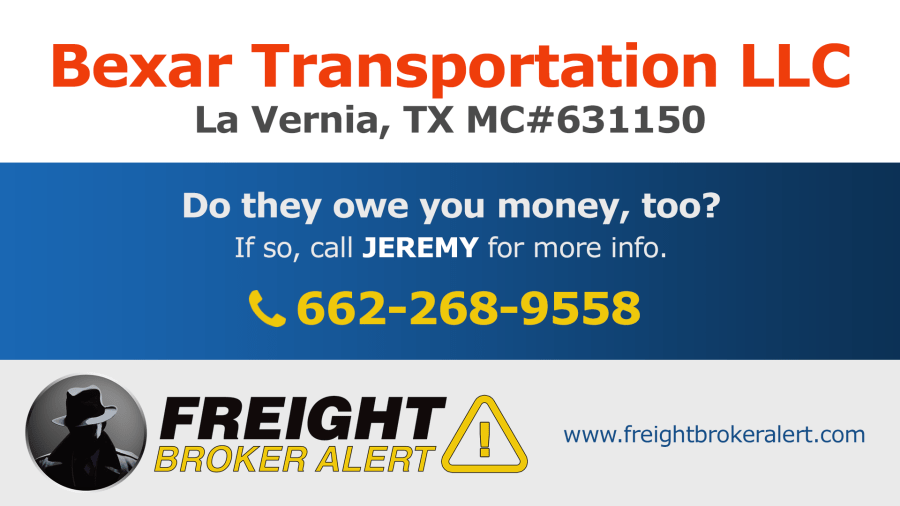 Bexar Transportation LLC Texas