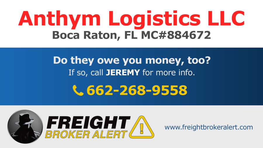 Anthym Logistics LLC Florida