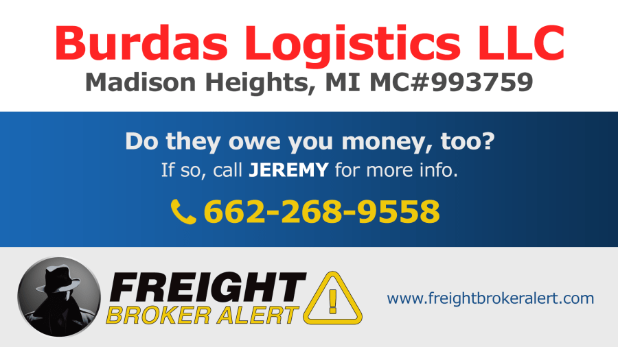Burdas Logistics LLC Michigan