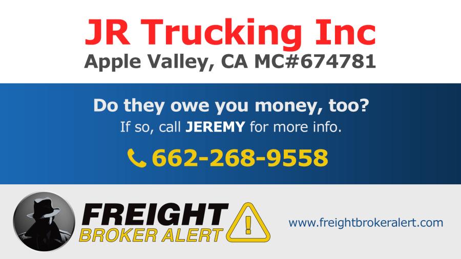 JR Trucking Inc California