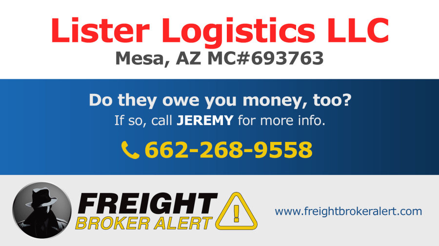 Lister Logistics LLC Arizona
