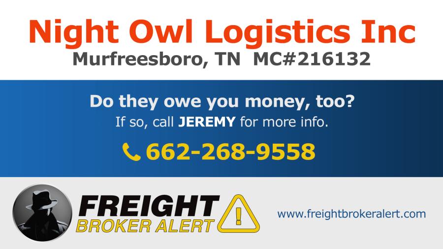Night Owl Logistics Inc Tennessee