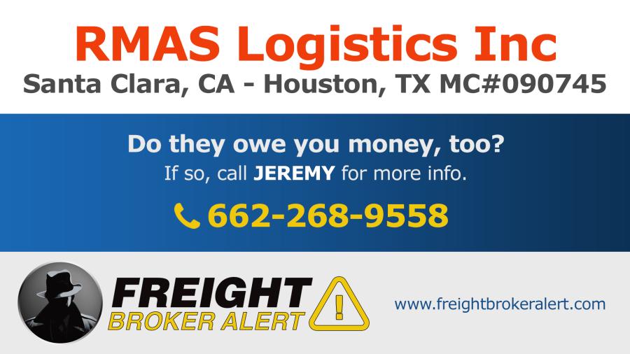 RMAS Logistics Inc California Texas