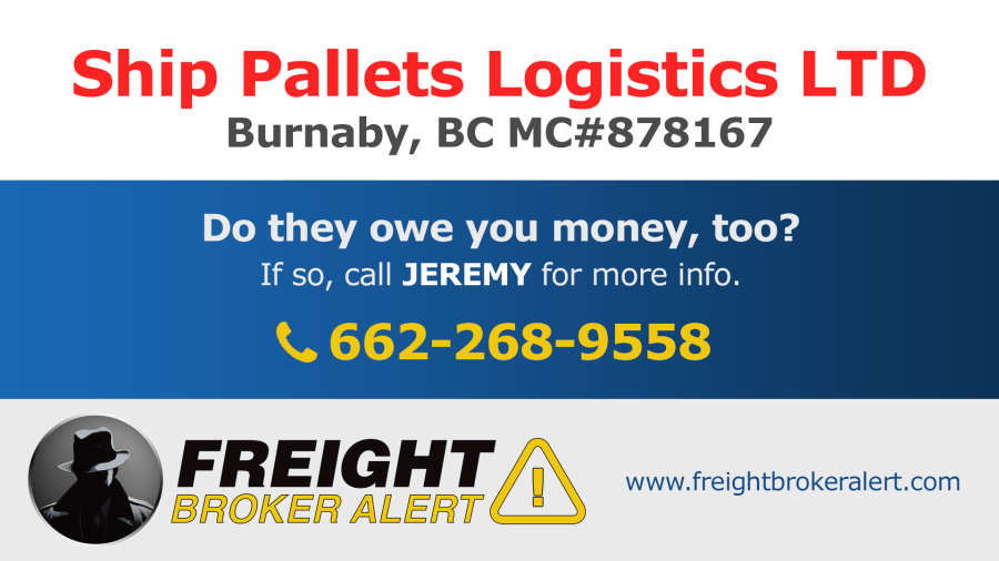 Ship Pallets Logistics LTD British Columbia