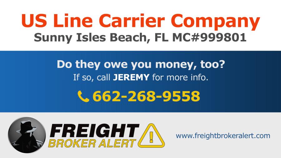 US Line Carrier Company Inc Florida