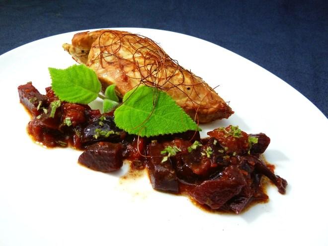 Hähnchenbrust Pflaumen Rote Beete 3