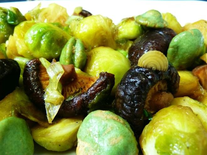 Gebratener Rosenkohl | Wasabi | Erdnüsse | Shiitake