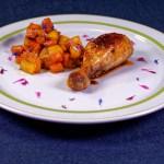 Gaumen-Kicker: Asiatisches Hähnchen mit glacierten Süßkartoffeln