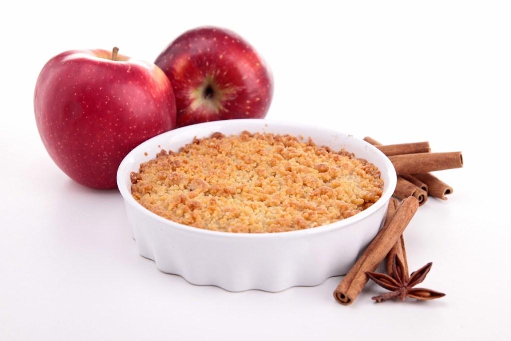 Apfel Crumble, Ernährungstipp bei Seekrankheit