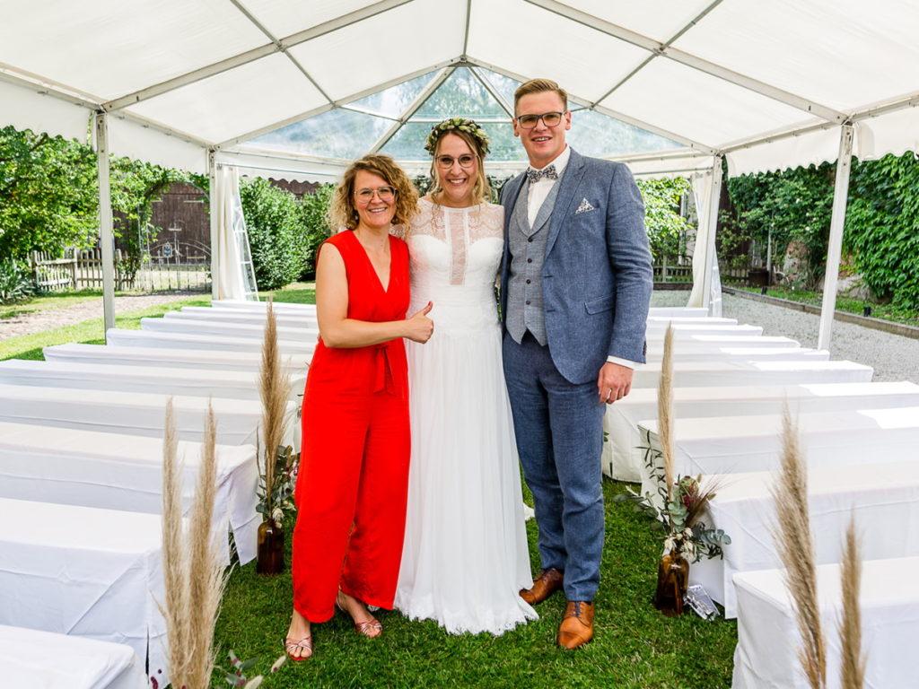 Brautpaar freie Trauung Grenzhof