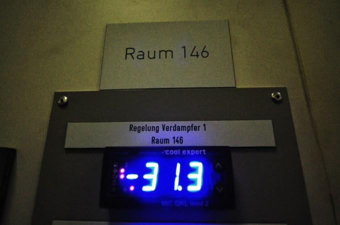 Temperaturregelung auf -31.4°