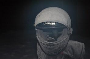 Vereister Helm