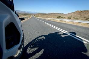 Route 62 mit Motorrad