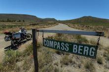Schild zum Compass Berg Südafrika