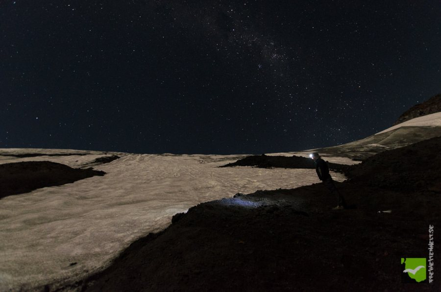 Gletscherrand Nacht
