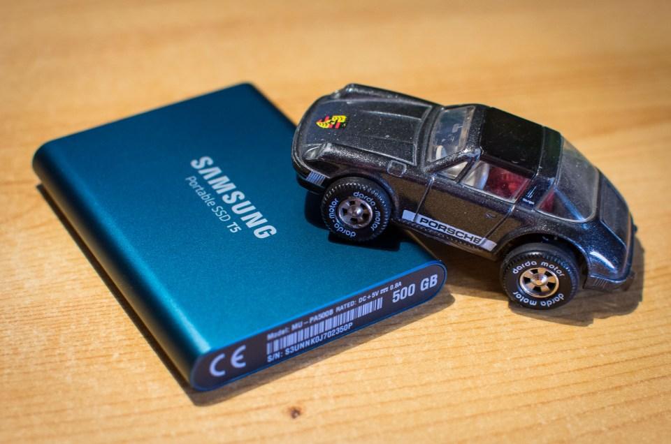 Samsung Portable SSD T5 – Porsche für Lightroom – Testbericht