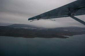 Abreise mit Wasserflugzeug Katmai