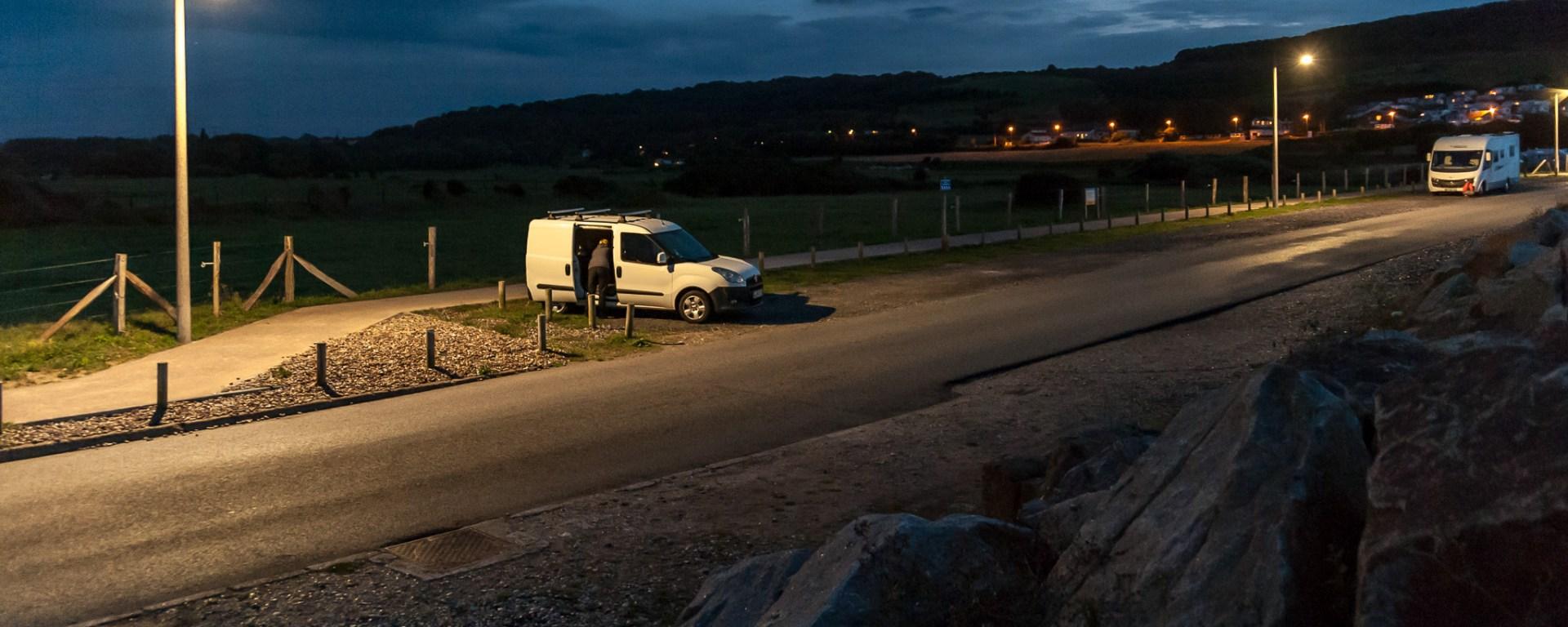 Parkplatz (Standplatz) in der Normandie