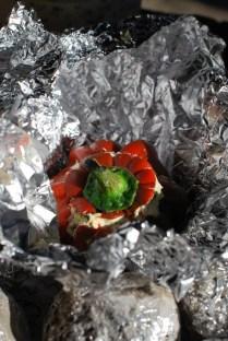 Kann Hitze ab. Paprika sollte ordentlich durch sein und außen ein bisschen geröstet.