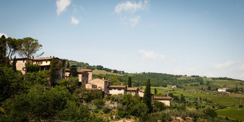 Toskana - kleines Dorf