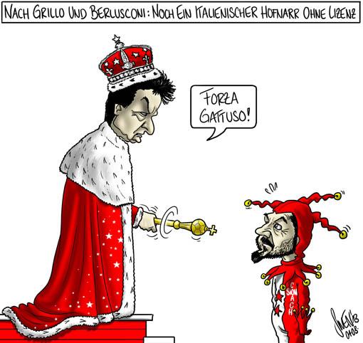 Berlusconi, Grillo und Gattuso