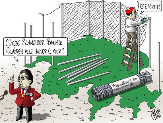 Massendrahtzaun: USA wollen Schweizer Bänker ausgeliefert haben
