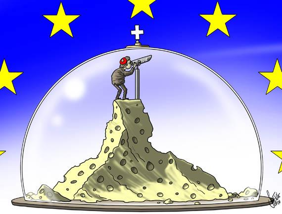 Aussicht Schweiz/EU