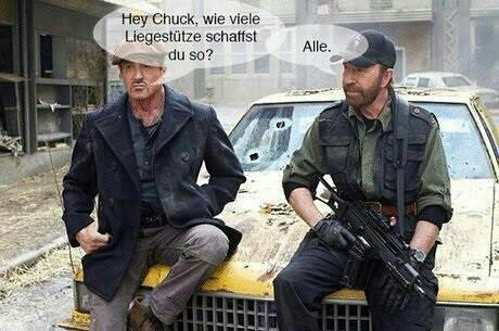 Chuck Norris - Liegestütze