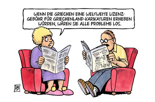 EU / Griechenlandpleite: Lizenzgebühr auf Karikaturen