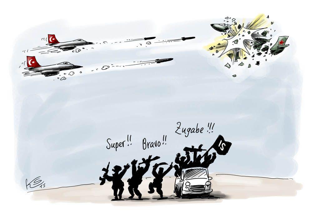 IS: Türkei vs. Russland