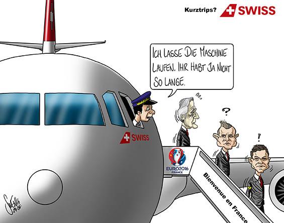 EM 2016: Schweizer Nati in Frankreich auf Besuch