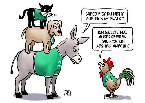 Werder Bremen kurz vor dem Abstieg?